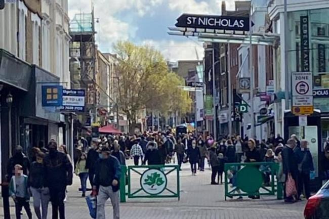 Sutton High Street this afternoon ( credit Ant Vázquez-Phillips)