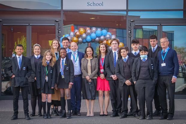 Your Local Guardian: Headteacher Assal Ruse with Twickenham School students