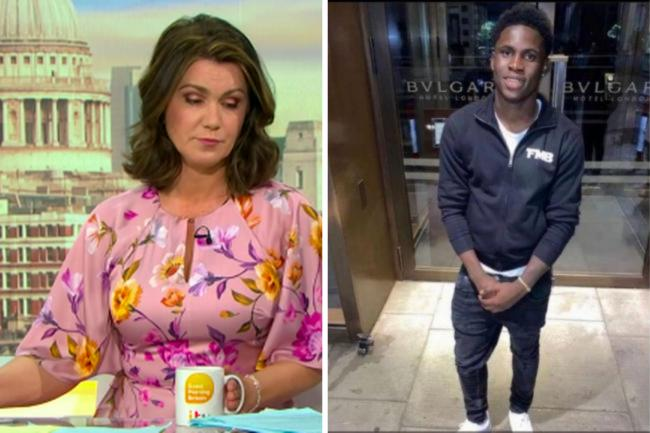 GMB host Susanna Reid paid tribute to Folajimi Olubunmi-Adewole (also known as Jimi ). Image by ITV.