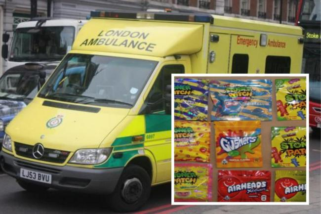 Four children were taken to hospital from Epsom after eating cannabis-infused sweets (stock images)