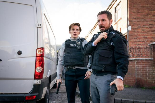 Vicky McClure as DI Kate Fleming and Martin Compston as DI Steve Arnott in Line Of Duty