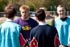 Back to school:  Harlequins forward Chris Robshaw coaches students at Bishop Wand School.  Pic: Spencer Willmott.