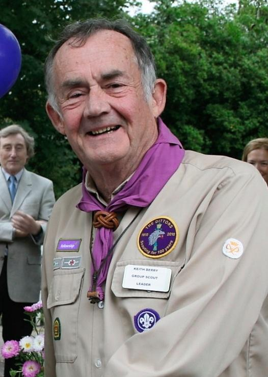 Keith Berry much loved Group Scout Leader at the Dittons Scout Group