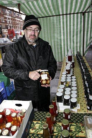 Trading suspended: Brian Woodfall, one of the organisers of M Farmers Markets