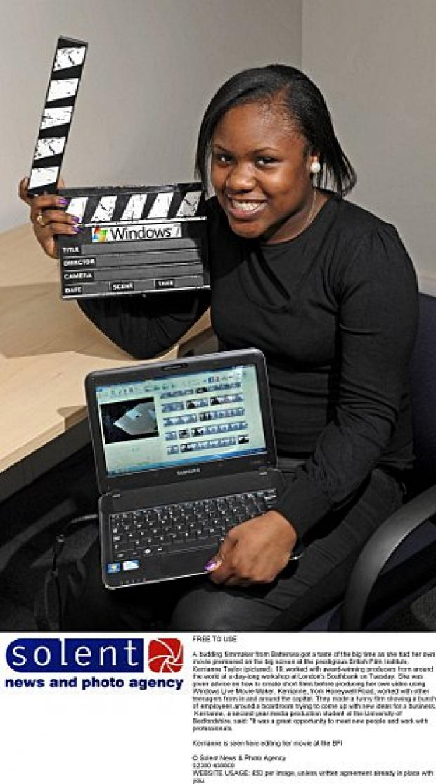 Kerrianne Taylor, from Honeywell Road, Battersea, had her film premiered on the big screen at the British Film Institute