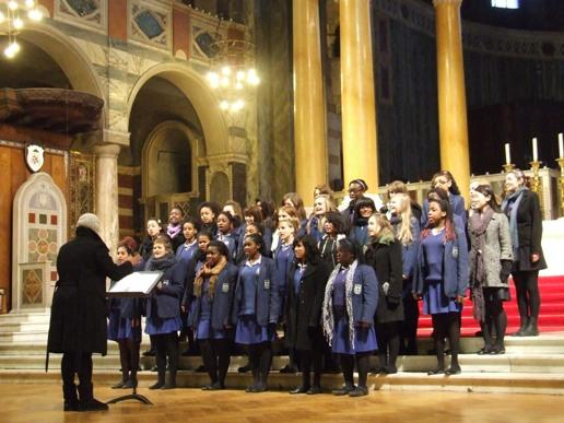 Ursuline Choir Visits Westminster Cathedral Your Local Guardian
