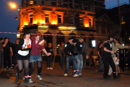 Pubs entered teams in a special Surrey Street pancake race in Croydon.