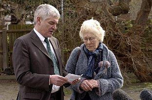Alastiar and Isobel Morgan at the murder scene
