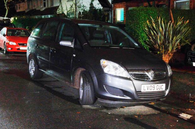 The Vauxhall Zafira used by Grant