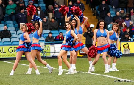 Crystal Palace cheerleaders The Crystals