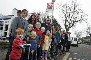Route masters: Some of the campaigners keen to see a new service