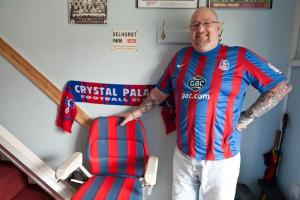 Cliff Gardner, a 49-year-old Crystal Palace fan