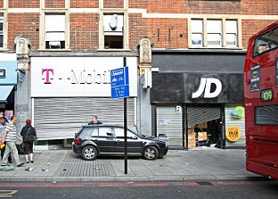 Shops in Streatham and Brixton were looted
