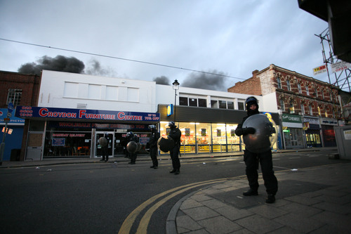 The incident took place during Monday's riots in Croydon