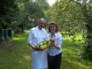 How do you like them apples: Yann Forgeais, head chef, with catering ...