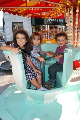 Lina Lopes age 5, Melody Lopes age 2 1/2 and Noah Dickins age 3.