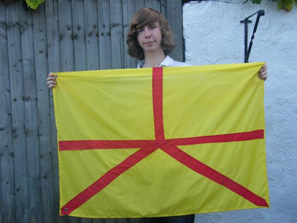 Your Local Guardian: Jonathan Austen with the Austenasia flag