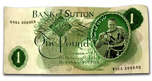 Licence to print Sutton cash