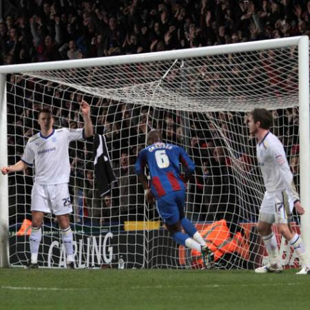 Pictures from the Carling Cup semi-final first leg at Selhurst Park. January 10 2012.