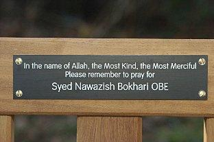 Memorial bench unveiled in honour of former headteacher