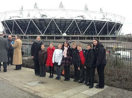 Ashford Park Primary School visits the Olympic Park.