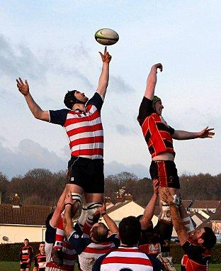 Balancing act: Park win a line-out on Saturday. Credit David Whittham
