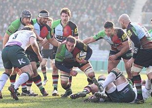 Live action: The clash with London Irish wasn't a classic, but no-one told Ollie Kohn, centre