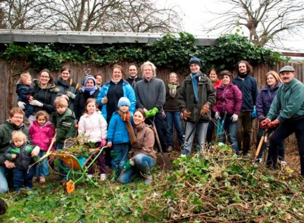 Volunteers press on with 'edible' garden