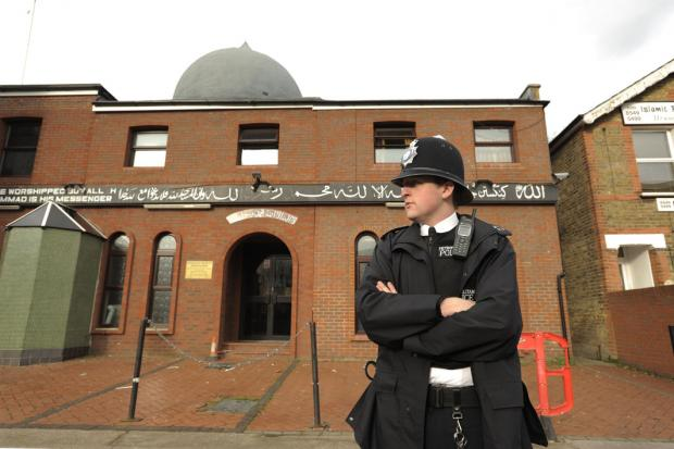 On the scene: After the alert about the attack on Kingston Mosque was raised police raced back and, in communication with town centre CCTV operators, started arresting the men in nearby roads, the jury heard.