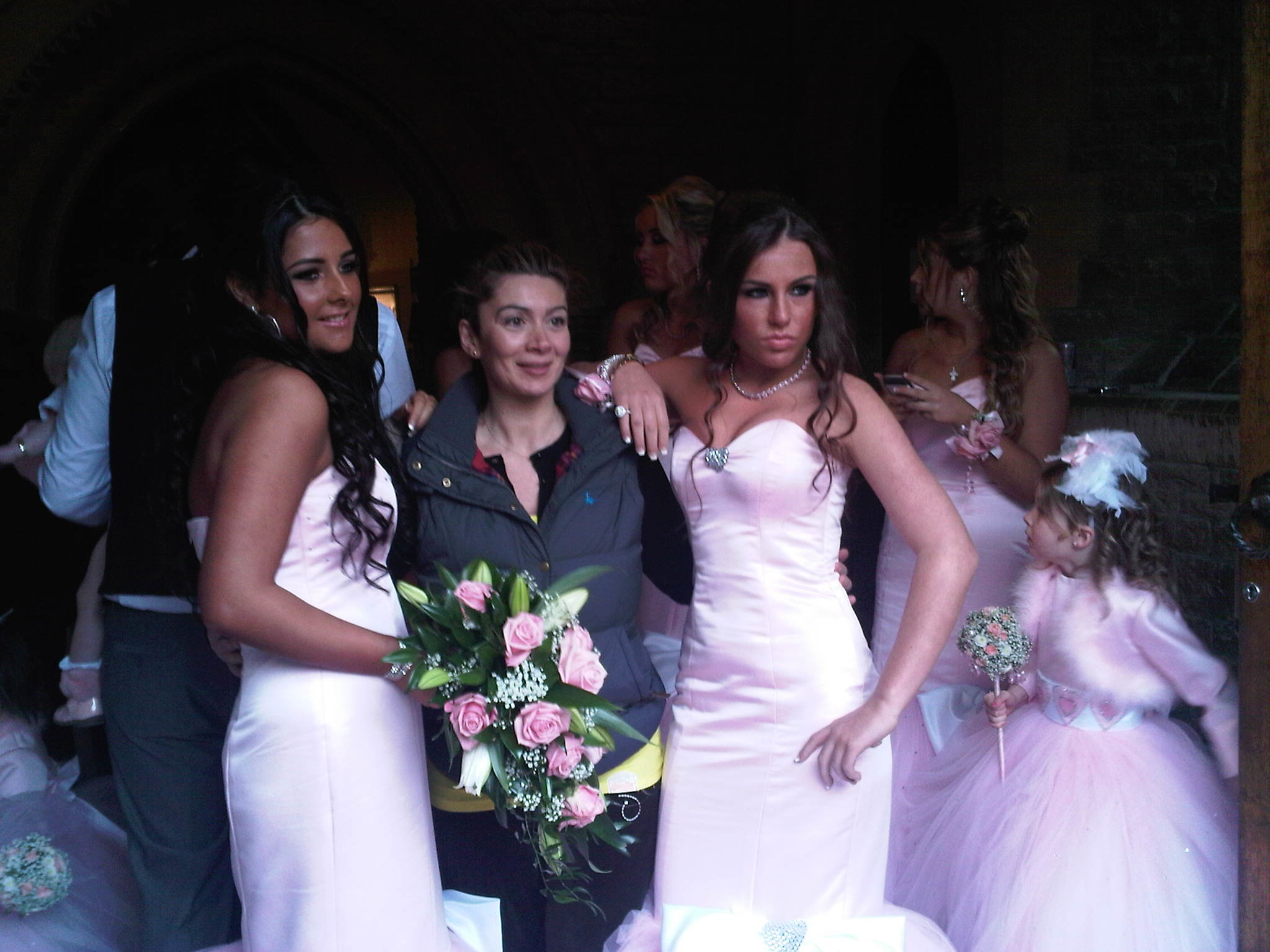 Rasha Childs grabbed a shot with bridesmaids