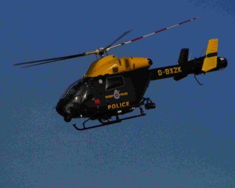 The Met helicopter helped in the search for the boy