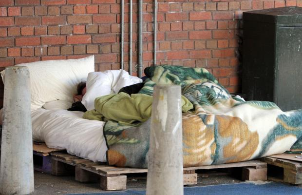 Rough sleepers in the Merton Council-run car park next to Sainsbury's in London Road, Morden