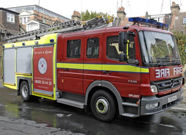 The crew were called to a fridge fire in Epsom