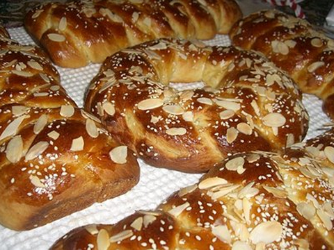Tsoureki sweet yeast bread