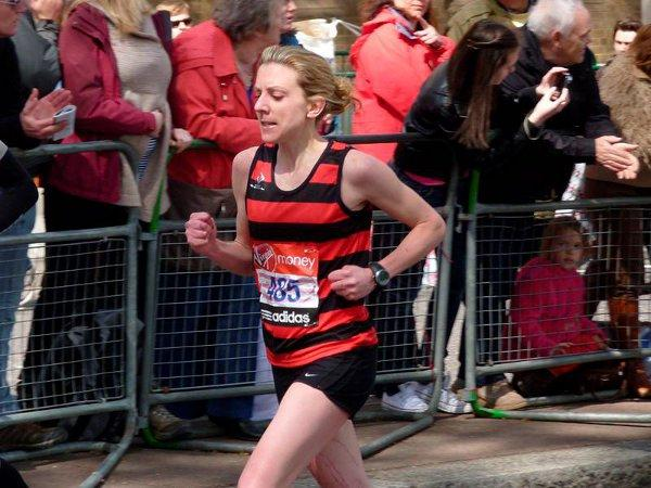 Hero: Rosalind Kieran on her way to a club record
