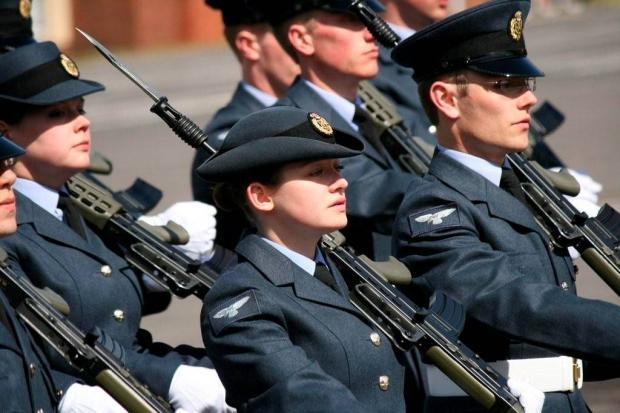 At ease: Alex Doyle overcame difficulty to pass her basic training