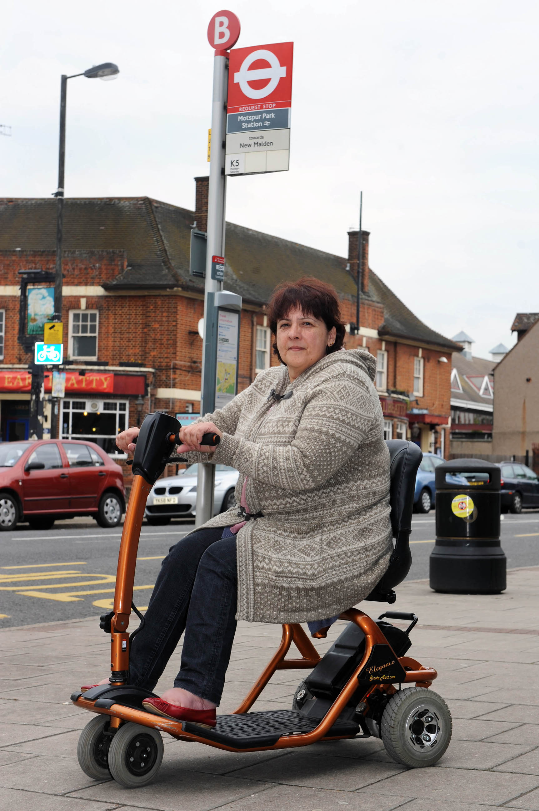 Julia Bowers, 56, cries foul after being denied bus travel because she drives the wrong type of mobility scooter