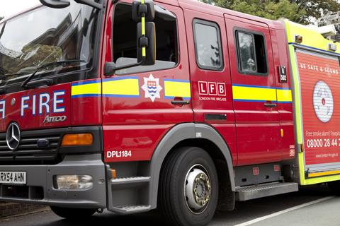 Firefighters called to blaze in block of flats