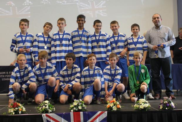 Epsom & Ewell Colts U13's with their Sportsmanship Award