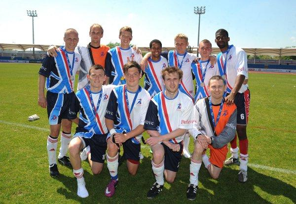 Big aim: Billy Thompson, second left in the back row, wants to be Team GB's number one at the Paralympic Games this summer. Picture: PA Wire