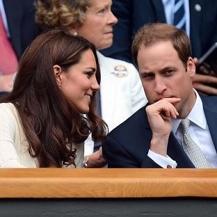The Duke and Duchess of Cambridge in the Royal Box at the All England Lawn Tennis Club, Wimbledon