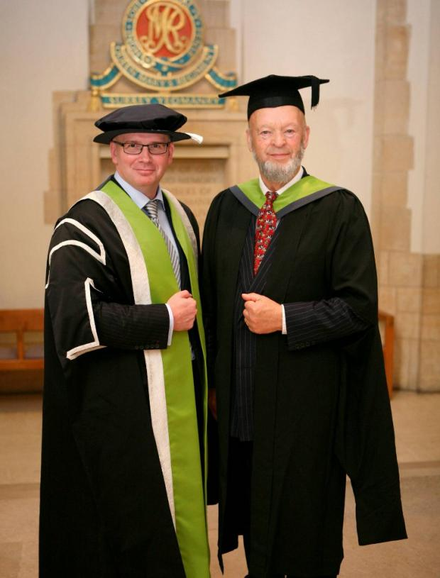 Mr Eavis received the degree for his services to the creative arts