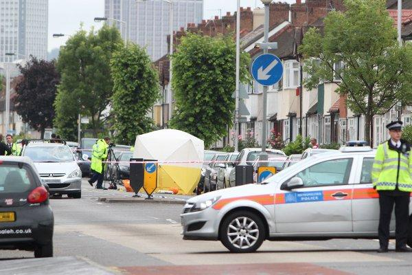 A man in his 30's was killed in a collision with a car on Tuesday on Mitcham Road