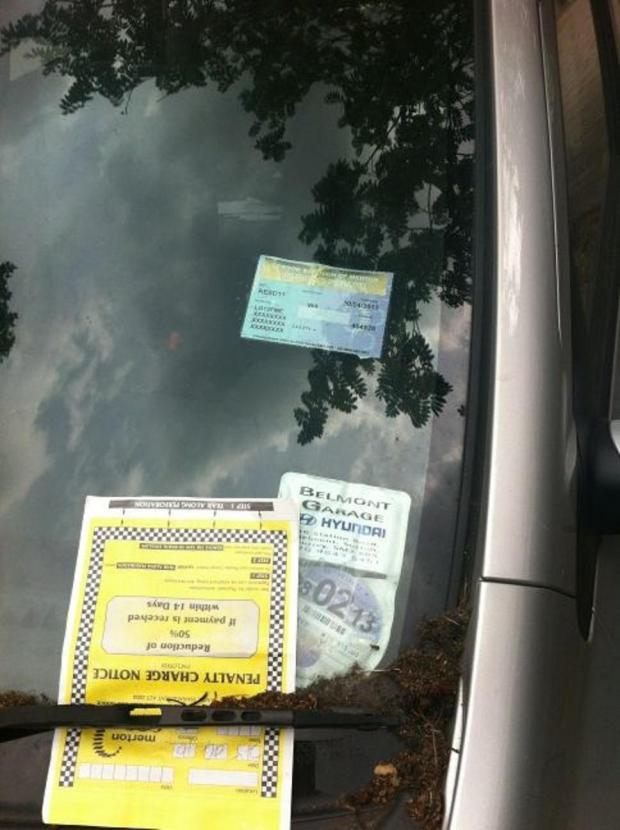 Reverend Andrew Wakefield thought he been given a ticket for parking in residents' bay despite having a permit