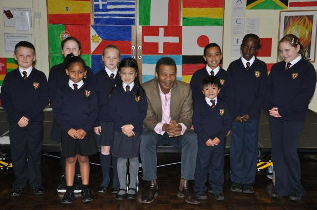 Battersea children get new jumpers from The Black Farmer