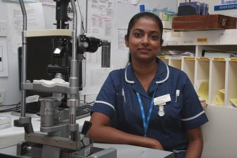 Anjali Praveen has worked at Sutton Hospital for nine years
