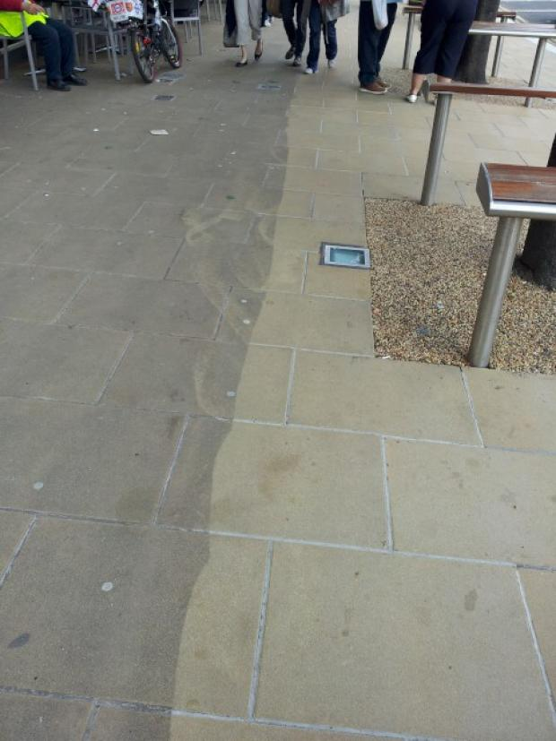 Some Wimbledon pavements have already undergone a deep clean