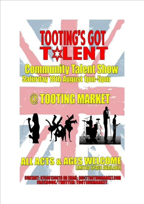 Tooting Market to host talent show