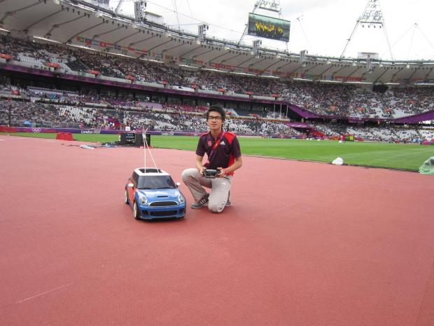 Gareth Goh,16, has been working at the heart of the action in the centre of the Olympic stadium