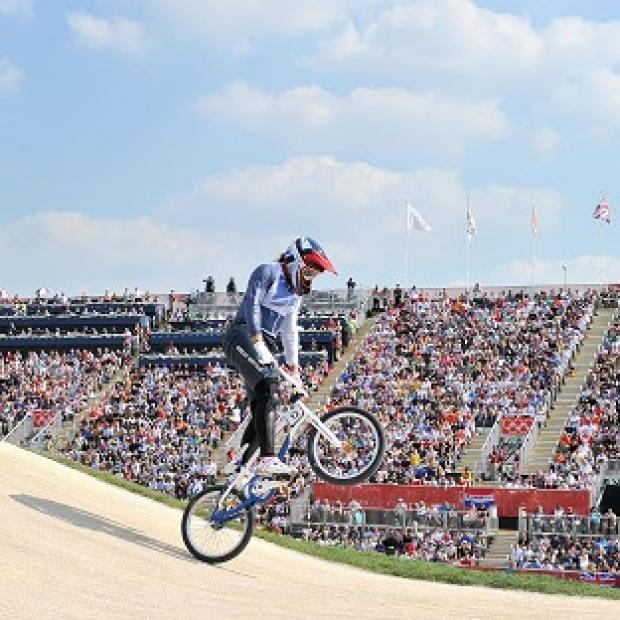 Great Britain's Shanaze Reade advanced into the Cycling BMX final
